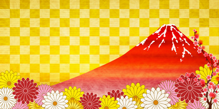 Fuji chrysanthemum plum background