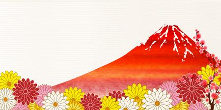 Fuji chrysanthemum plum background
