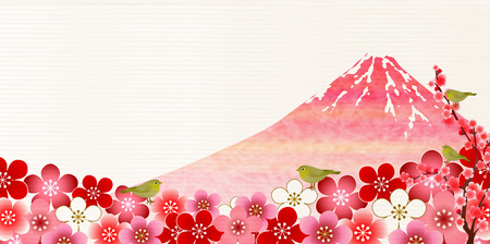 ruise�or: Fuji plum Nightingale background