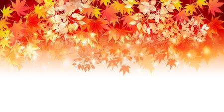 紅葉の秋の風景の背景  イラスト・ベクター素材