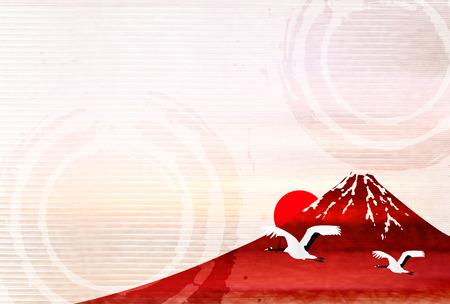 Rooster daru újévi kártya háttér Illusztráció