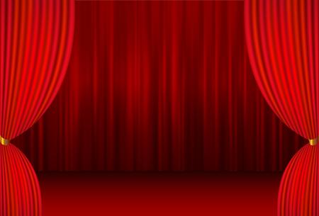 etapa cortina de fondo de cortina