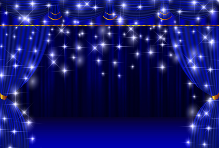 Curtain stage curtain background Vector Illustration