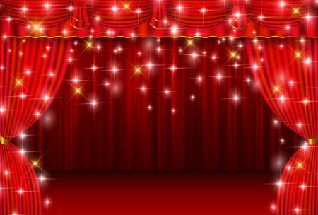 カーテン ステージ カーテン背景