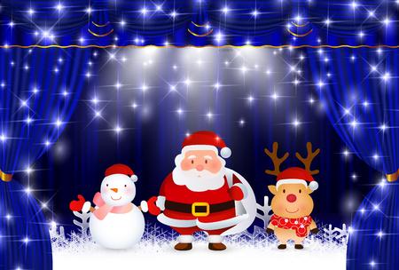クリスマス サンタ カーテン背景 写真素材 - 63365827
