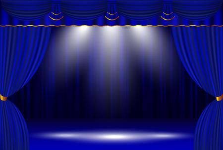 カーテン ステージ カーテン背景 写真素材 - 63365837