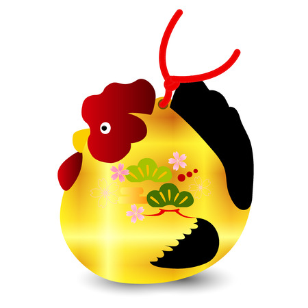 sho: Rooster chicken greeting card icon