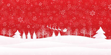 Weihnachten Schnee Santa Hintergrund