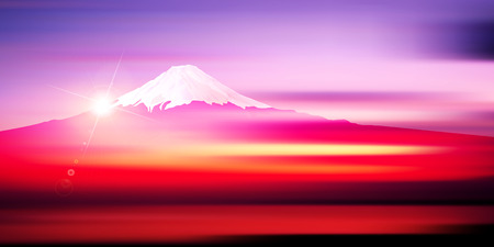 Fuji sunrise New Years card background