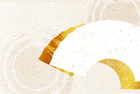 tarjetas de felicitación de papel japonesas fondo de oro