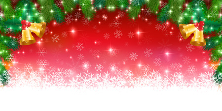 tree decorations: Christmas snow winter background