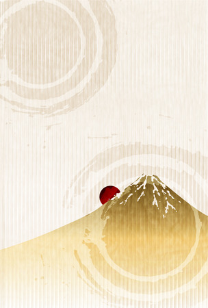Fuji New Years greeting card paper background