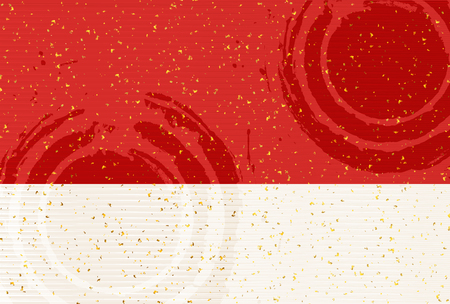 gold leaf: Japanese paper greeting card pattern background