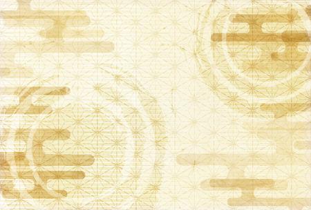 일본 종이 인사말 카드 패턴 배경 일러스트
