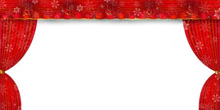 クリスマス雪カーテン カーテン  イラスト・ベクター素材