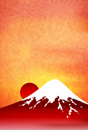 japanese paper: Fuji sunrise Japanese paper background