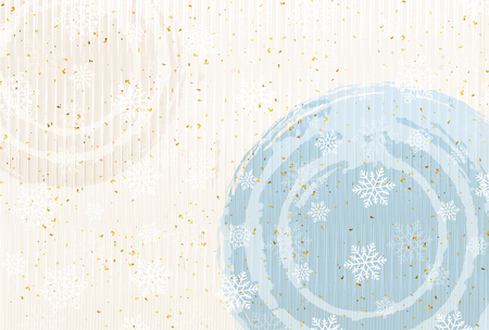 japanese paper: Christmas Japanese paper snow background