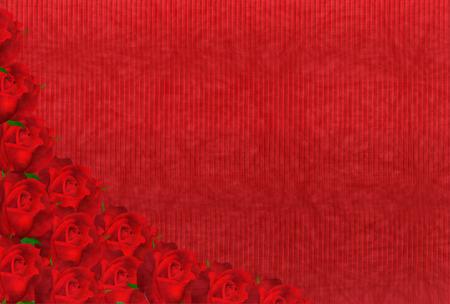 japanese paper: Valentine Roses Japanese paper background
