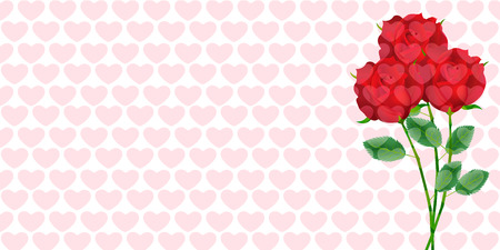 Valentine Heart Roses Background
