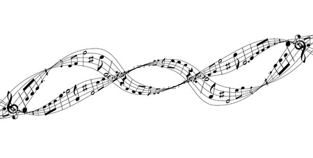 Musical score silhouette icon