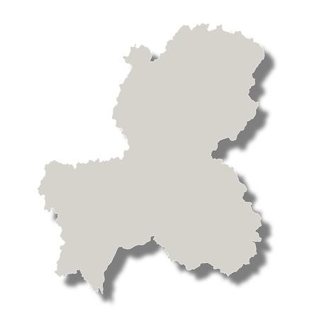日本地図県アイコン  イラスト・ベクター素材