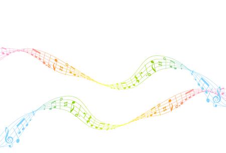 partition musique: Music score icône colorée