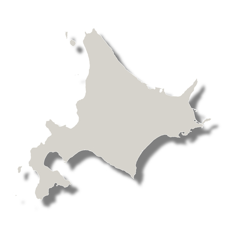 hokkaido: Japan Map Prefecture icon Illustration