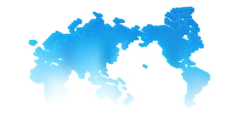 World map square icon royalty free cliparts vectors and stock world map icon blue vector gumiabroncs Gallery