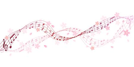 Muzieknoot cherry score achtergrond Stockfoto - 68151545