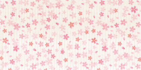 japanese paper: Cherry Japanese paper spring background Illustration