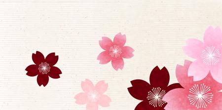 spring flower: Cherry spring flower background Illustration