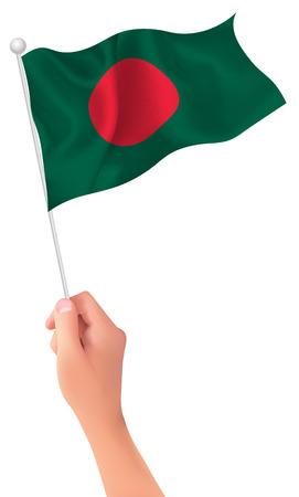 Bangladesh flag hand icon