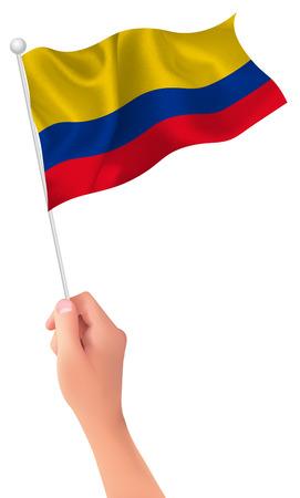 columbia: Columbia flag hand icon
