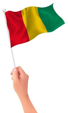 guinea: Guinea flag hand icon
