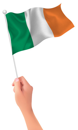 ireland flag: Ireland flag hand icon