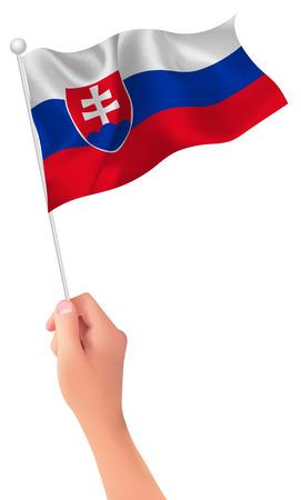 Slovakia flag hand icon