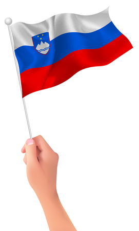 Slovenia flag hand icon