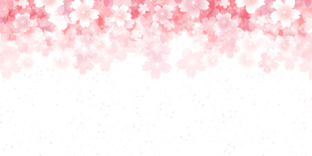 Cherry spring flower background Ilustracja