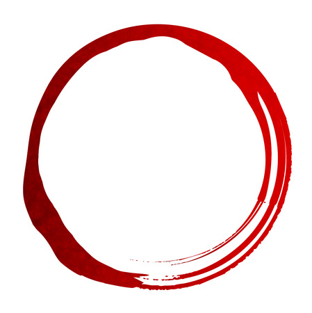 red circle: Red Circle Japanese paper icon Illustration