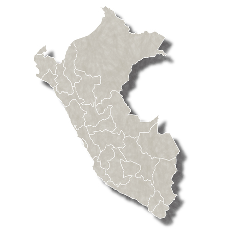 mapa del peru: Perú icono de mapa de la ciudad Vectores