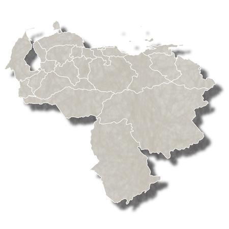 mapa de venezuela: Venezuela map city icon Vectores