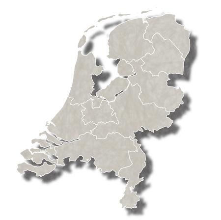 map of netherlands: Netherlands map city icon Illustration