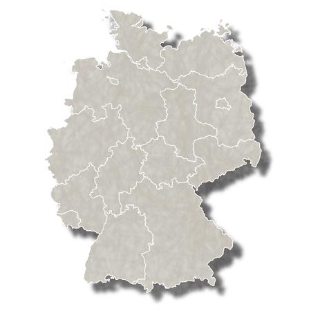 Duitsland kaart stad icoon