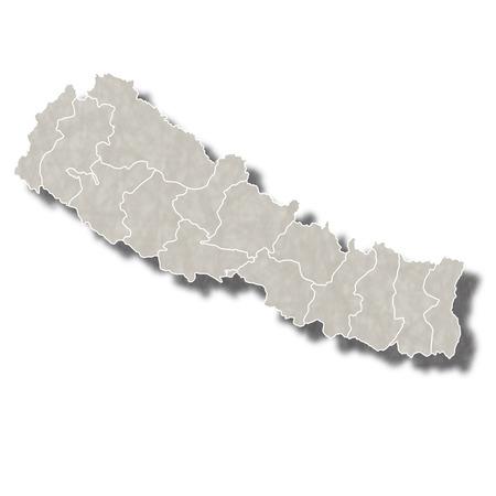 ネパール地図都市アイコン  イラスト・ベクター素材