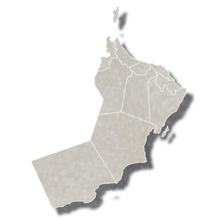 Oman map city icon Illustration