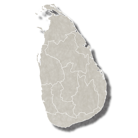 スリランカ地図都市アイコン