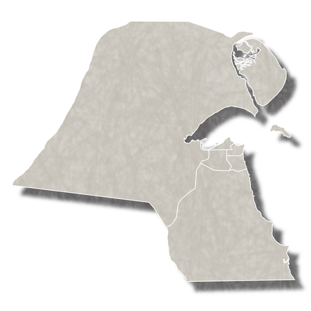 kuwait: Kuwait map city icon