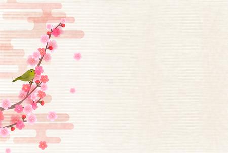Plum Frühlingsblume Hintergrund