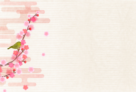 Plum spring flower background