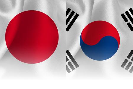 affiliation: Japan Korea national flag background